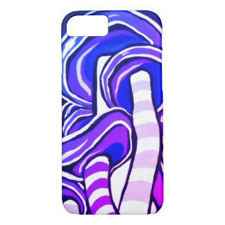 Purple Trippy Psychedelic Mushroom Hippie iPhone 8/7 Case