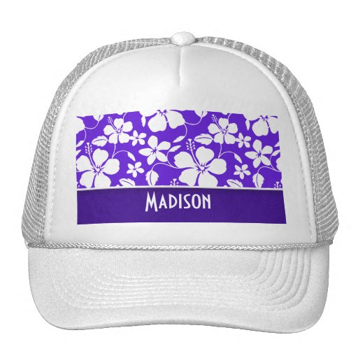 Purple Tropical Flower Hat