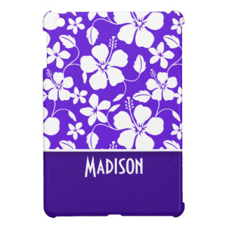 Purple Tropical Flower Cover For The iPad Mini