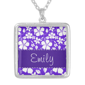 Purple Tropical Flower Custom Jewelry
