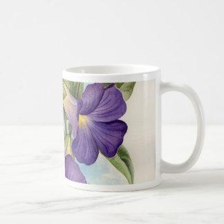 Purple Tropical Flower Painting - Multi Coffee Mugs