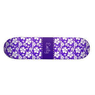 Purple Tropical Flower Skate Decks