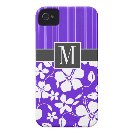 Purple Tropical Hibiscus iPhone 4 Case