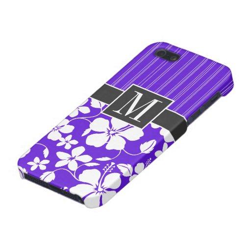 Purple Tropical Hibiscus iPhone 5 Case