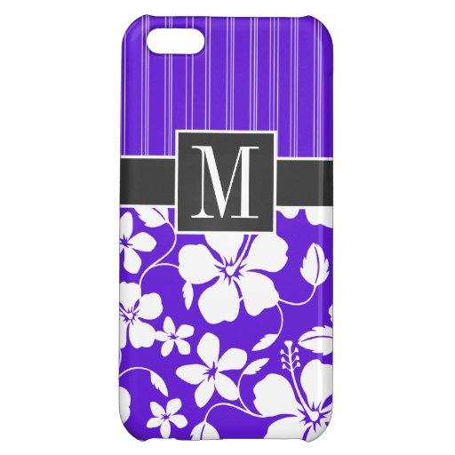 Purple Tropical Hibiscus iPhone 5C Covers