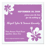 Purple -Tropical save the date cards Invitations