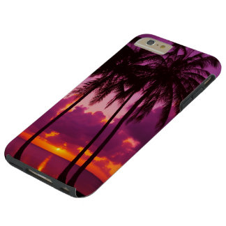 Purple Tropical Sunset 1 Tough iPhone 6 Plus Case