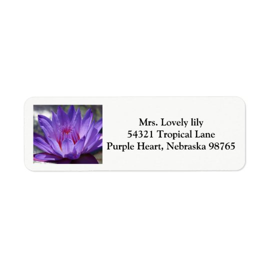 Purple Tropical waterlily return labels 2017