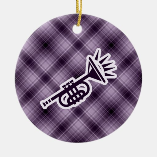 Purple Trumpet Christmas Tree Ornaments