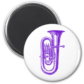 Purple Tuba Magnet