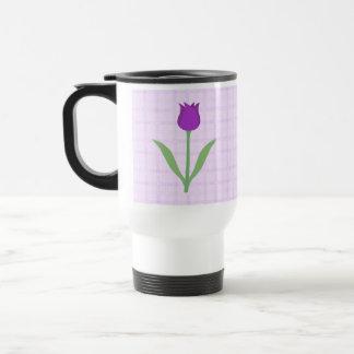 Purple Tulip Flower. 15 Oz Stainless Steel Travel Mug