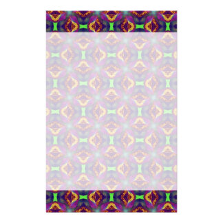 Purple Tulip Fractal Patterned Stationery