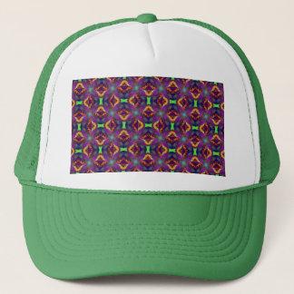 Purple Tulip Fractal Patterned Trucker Hat