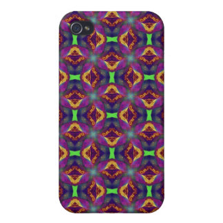 Purple Tulip Fractal Perned Cover For iPhone 4