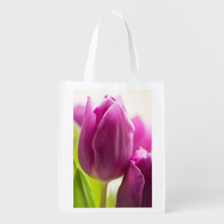 purple tulip grocery bag