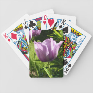 Purple Tulip in Bloom Bicycle Playing Cards