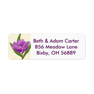 Purple Tulip return address label