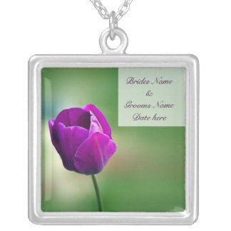Purple Tulip Silver Plated Necklace
