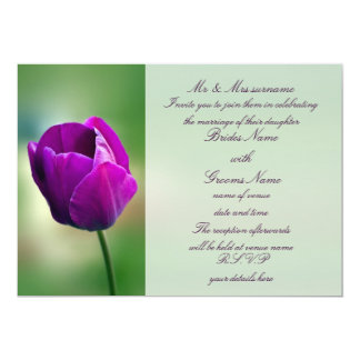 Purple Tulip Wedding Invitation