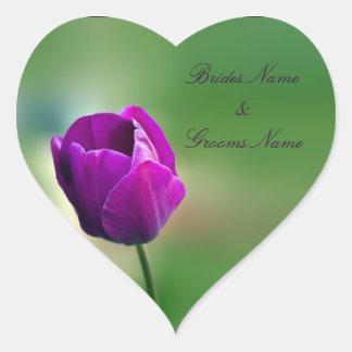 Purple Tulip Wedding Stickers