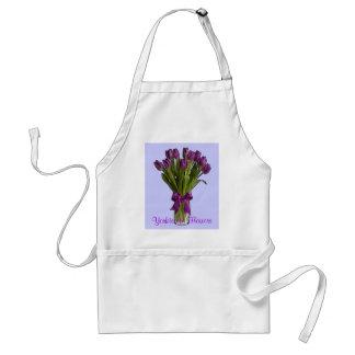 Purple Tulip Work Apron