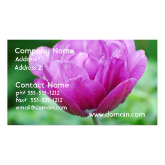 Purple Tulips Business Card