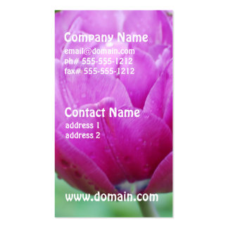 Purple Tulips Business Card Templates