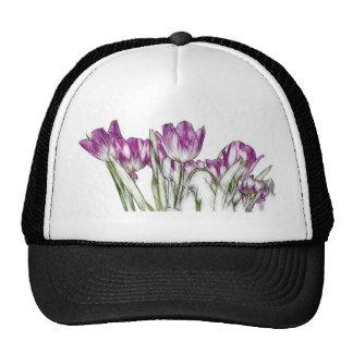 Purple Tulips Cap