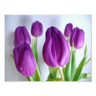 Purple Tulips Custom Invite