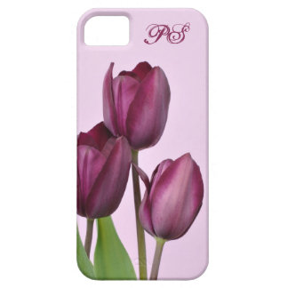 Purple tulips iPhone 5 covers