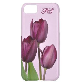 Purple tulips iPhone 5C case