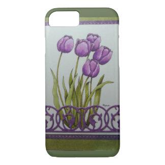 purple tulips iPhone 7 case