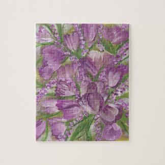 Purple Tulips Jigsaw Puzzle