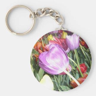 Purple Tulips Keychain