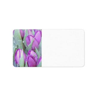 Purple Tulips Address Label