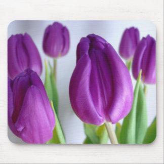 Purple Tulips Mouse Pad