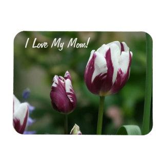 Purple Tulips Mum Rectangle Magnet