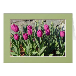 Purple Tulips notecard Stationery Note Card