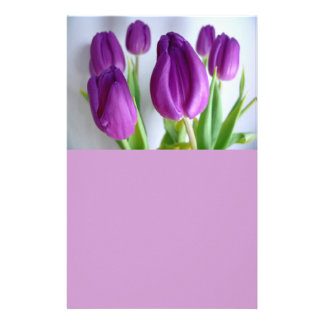 Purple Tulips Stationery