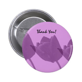 Purple Tulips, Thank You Buttons