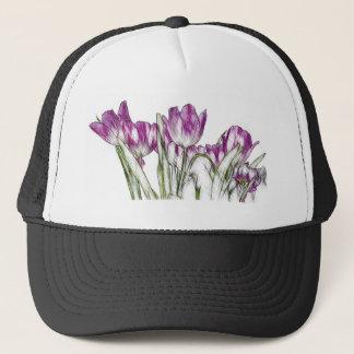 Purple Tulips Trucker Hat