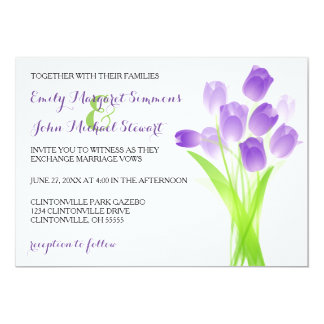 Purple Tulips - Wedding Invitation