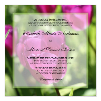 Purple Tulips Wedding Invitations