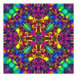 Purple Turquiose and Yellow Mandala Pattern