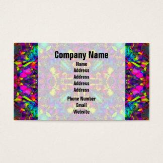 Purple Turquiose and Yellow Mandala Pattern Business Card
