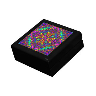 Purple Turquiose and Yellow Mandala Pattern Gift Box