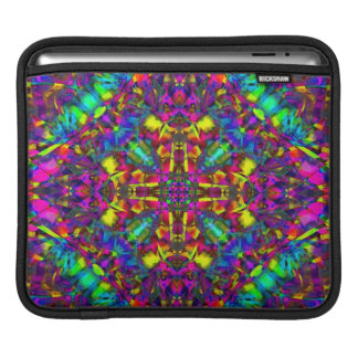 Purple Turquiose and Yellow Mandala Pattern iPad Sleeve
