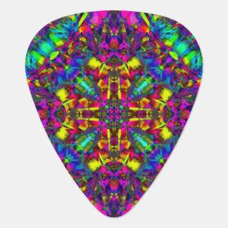 Purple Turquiose and Yellow Mandala Pattern Plectrum