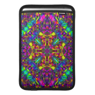 Purple Turquiose and Yellow Mandala Pattern Sleeve For MacBook Air