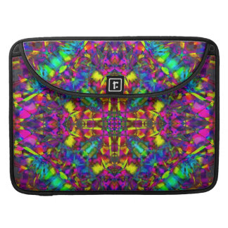 Purple Turquiose and Yellow Mandala Pattern Sleeve For MacBook Pro
